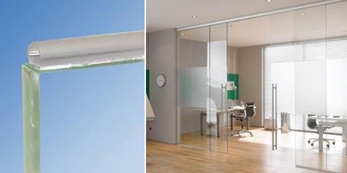 Glass Bumper Transparent Glass Door Seal from DSA